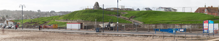 Work on the seafront