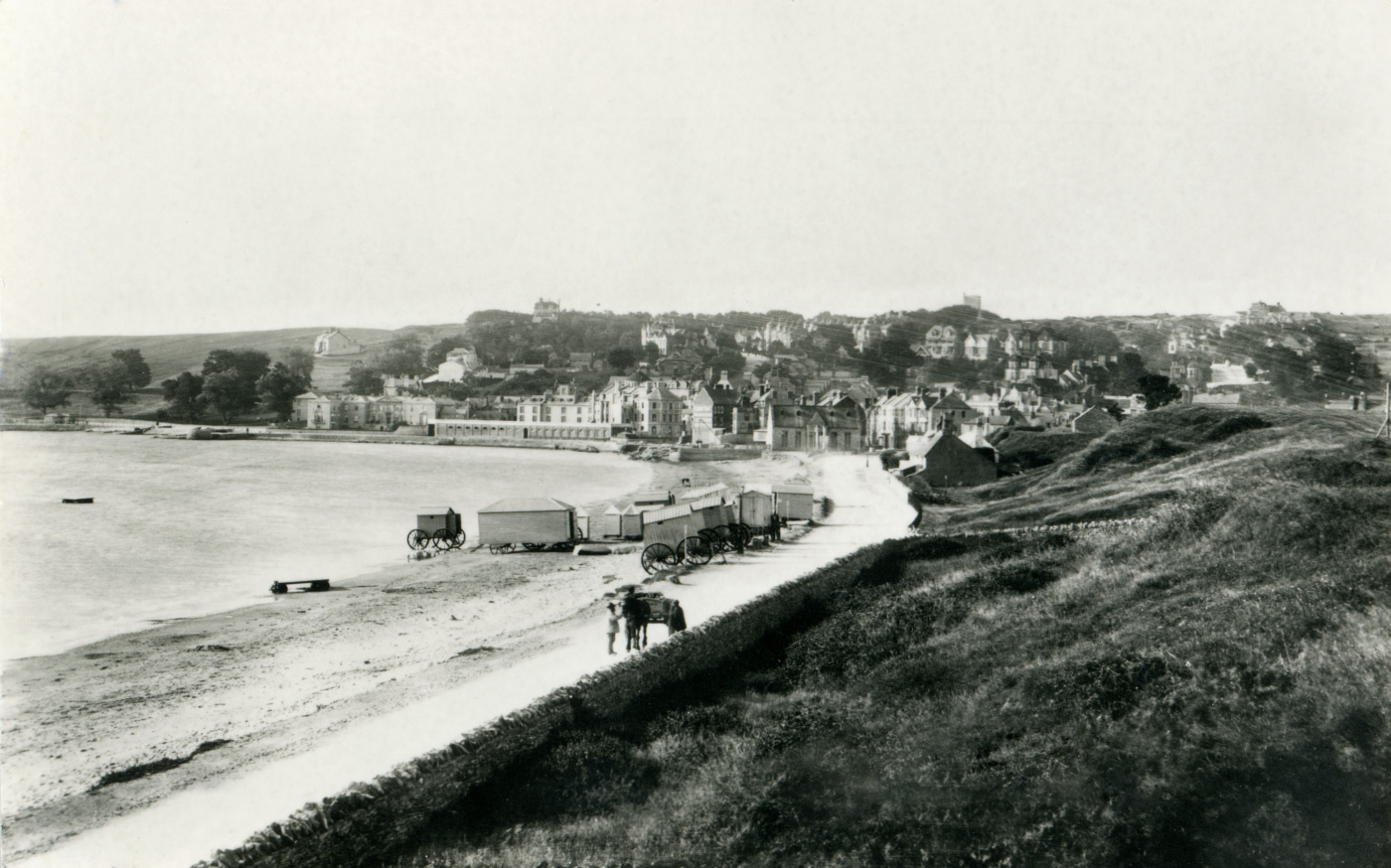 Shore Road with Bathing Huts on the beach