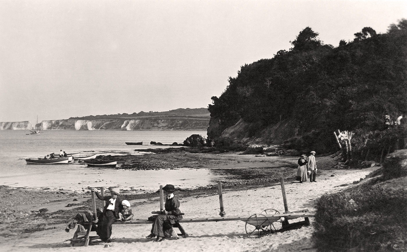 Studland Beach and Old Harry early 1900s
