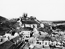 Click to view Corfe Castle from the church