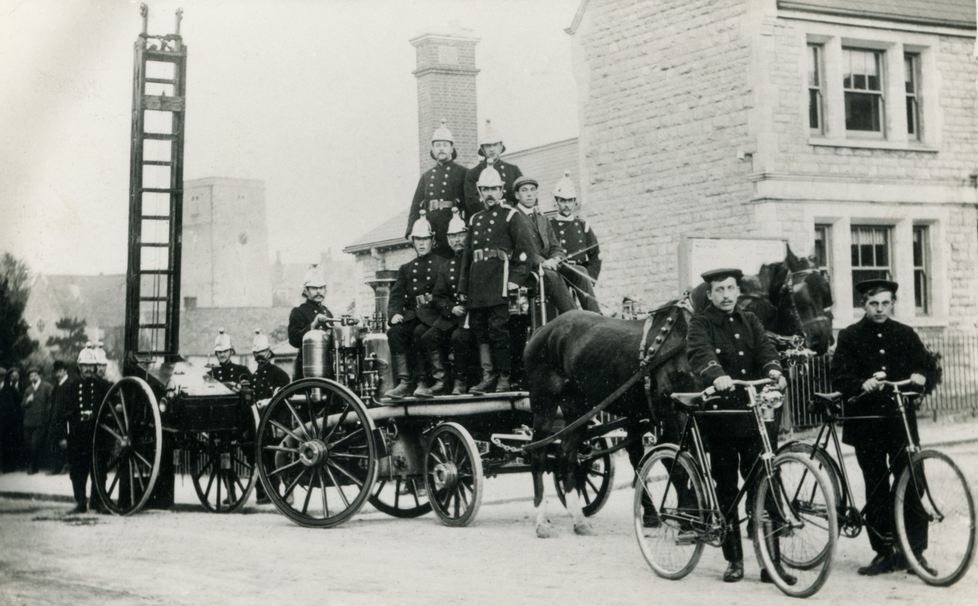 Swanage Fire Brigade in 1908