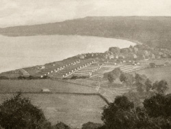 Click to view The Ballard Estate military barracks during WWI