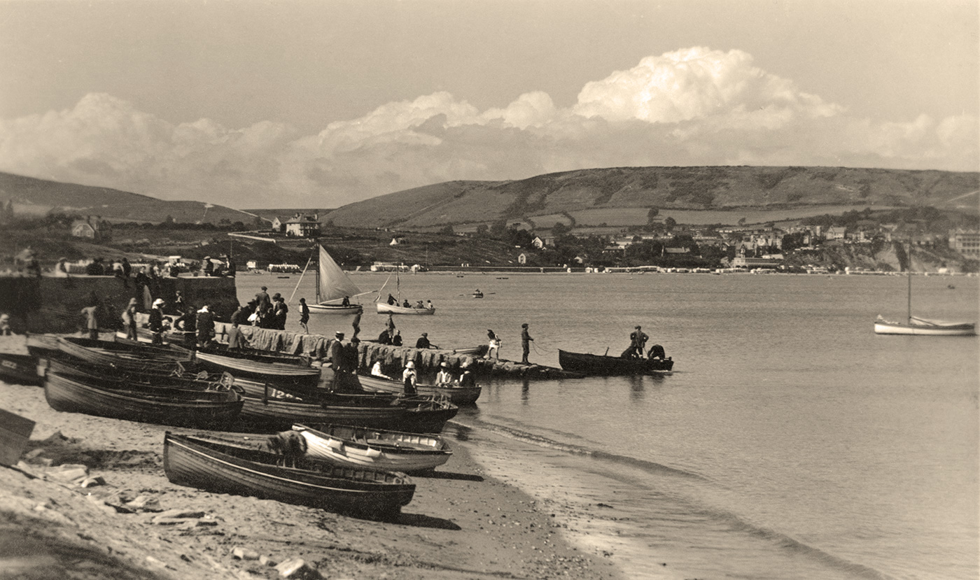 Hire Boats at the Quay 1920s