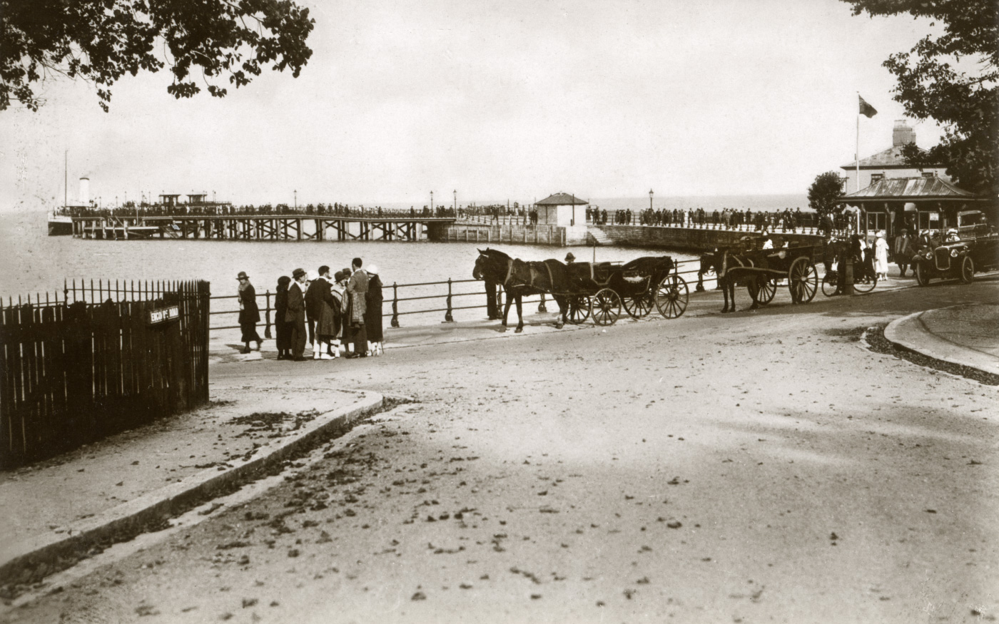 Charabanc and Horses at the Pier