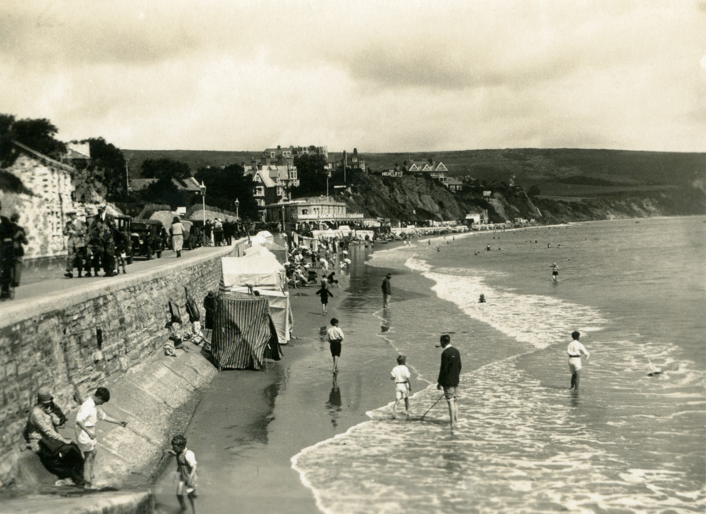 Shore Road and Beach in the 1930s