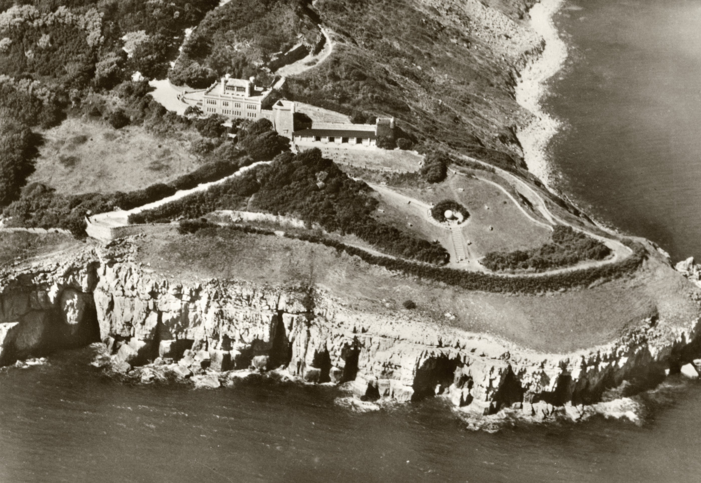 Durlston Castle from above