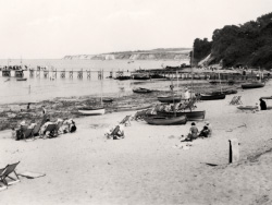 Click to view Studland Beach and Boats on Jetty