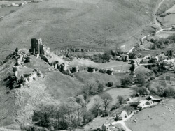Click to view Corfe Castle from above