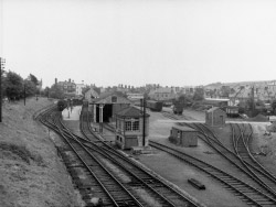 Swanage Railway and coal yard in 1965 - Ref: VS1964