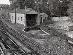 Click to view Swanage Railway Turntable in 1966