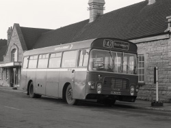 Click to view Hants Dorset bus 147 to Bournemouth in 1976