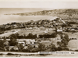 Swanage from Ballard 1950s - Ref: VS1899