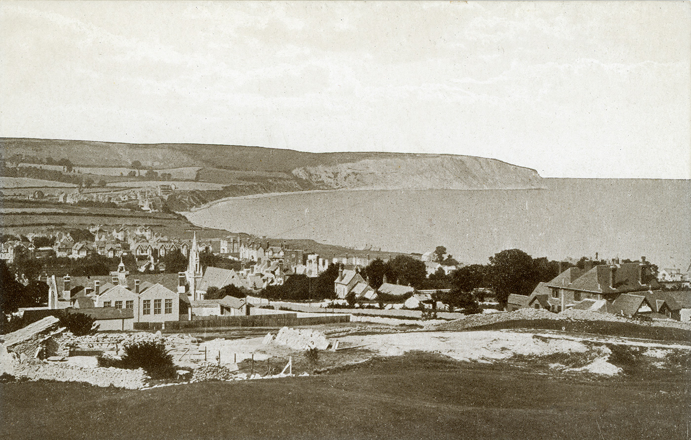 Swanage from the Quarries 1930s