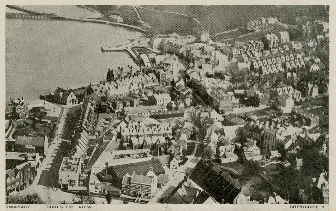 Swanage from air 1920s