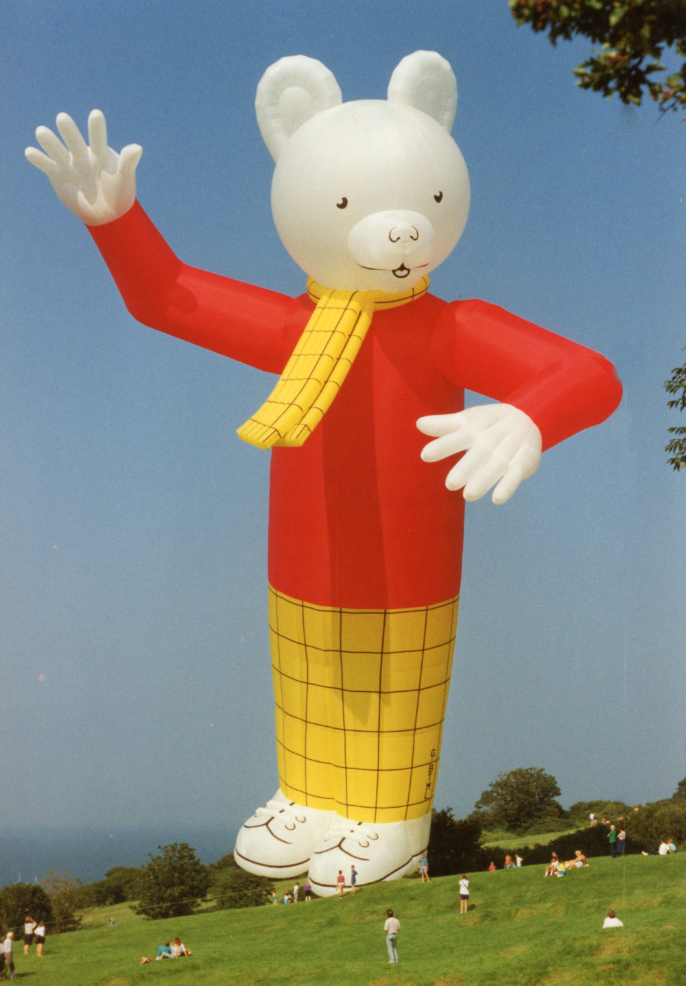 Rupert the Bear Balloon on the Downs