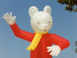 Click to view Rupert the Bear Balloon on the Downs