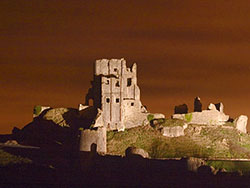 Click to view Corfe Castle at Night