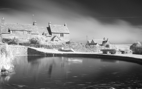 Pond at Worth Matravers Infrared