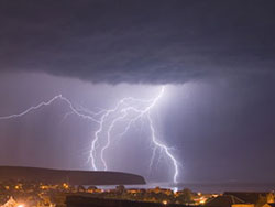 Lightning over Swanage Bay - Ref: VS611