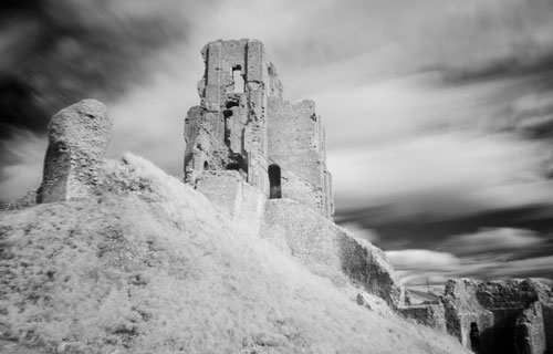 Infrared Corfe Castle