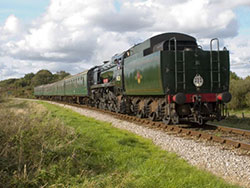 Train at Corfe Castle - Ref: VS652