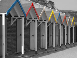 Coloured Beach Huts - Ref: VS673