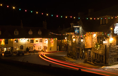 Christmas Lights at Corfe Castle