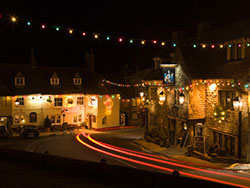 Christmas Lights at Corfe Castle  - Ref: VS1075