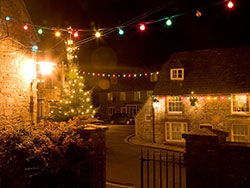Christmas Lights in Corfe Square - Ref: VS1076