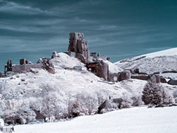 Click to view Infrared Corfe Castle