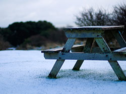 Click to view Snowy Bench
