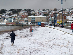 Click to view Snow on the Beach