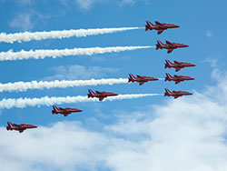 Click to view Red Arrows Display