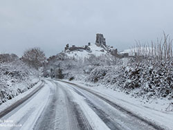 Click to view Corfe Road in the Snow and Ice