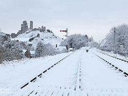 Snow at Corfe Station - Ref: VS1301