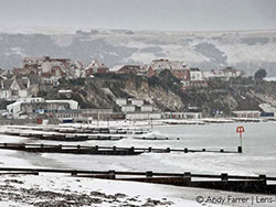 Click to view Swanage Beach in the Snow