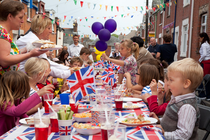 Royal Wedding Party in Richmond Road