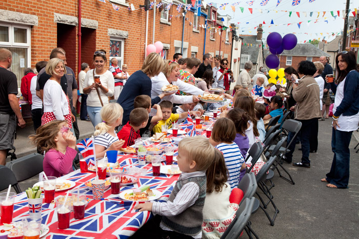 Children at the Royal Wedding Party