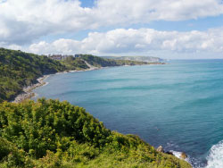 Click to view Durlston Bay from the Castle