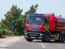 Click to view Fire water tanker on route to fire