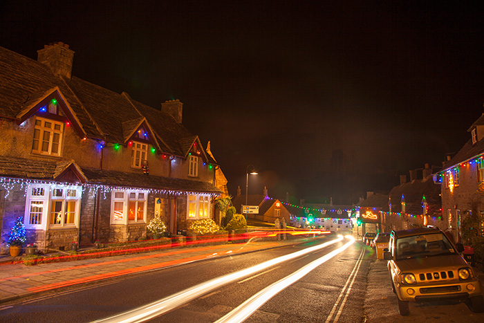 Corfe Castle Christmas Lights