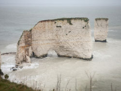 Click to view Old Harry Rocks sea damage