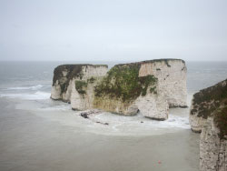 Click to view Old Harry Rocks after a storm