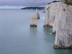 Click to view Looking to Swanage from Old Harry Rocks
