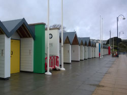 Click to view New beach huts on the seafront