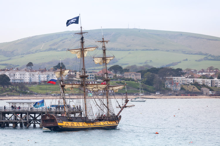 Jolly Roger at Swanage Pier