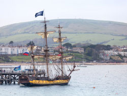 Click to view Jolly Roger at Swanage Pier