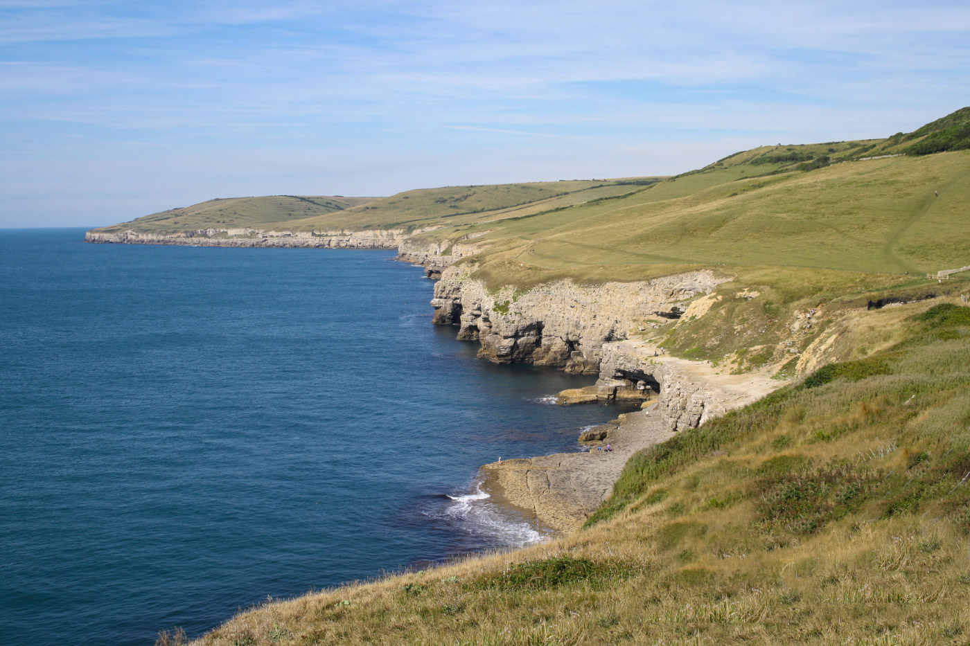 Looking across Dancing Ledge