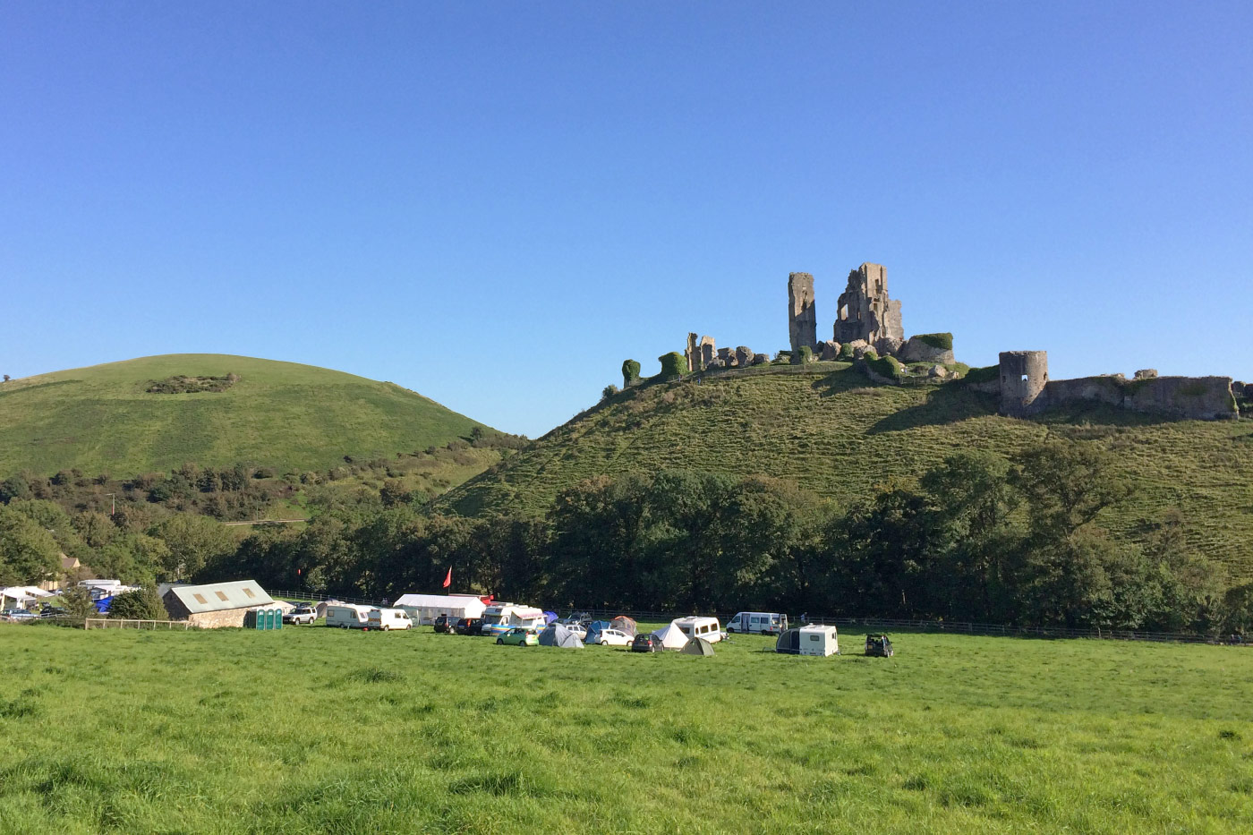 Campers at Corfe