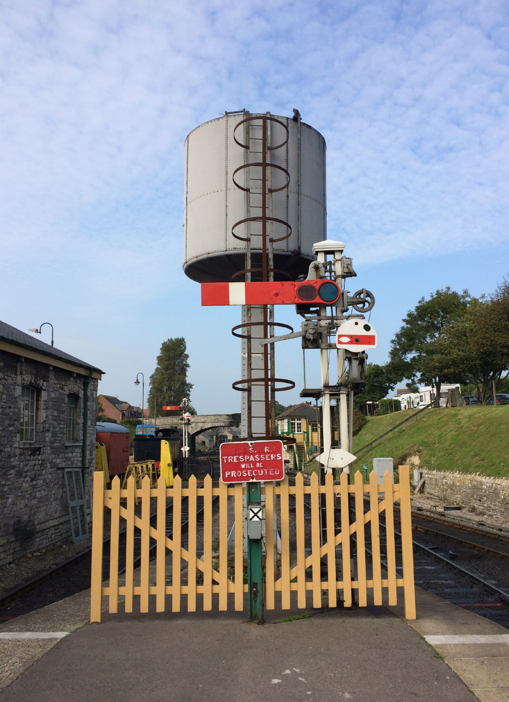 Water tower on Swanage Railway